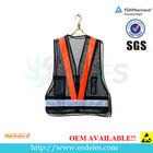 Black mesh warning vest with pockets