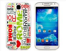 Rome Print Plastic Case for Samsung Galaxy S4 I9500 (White)