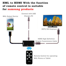 MHL Cables, MHL HDMI adapter,Micro USB Cables Adapter MHL HDMI 1080P HDTV Cables With remote control for samsung Galaxy S4