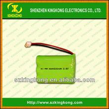 ni-mh 3.6v 600mah aaa battery pack ,cordless phone battery