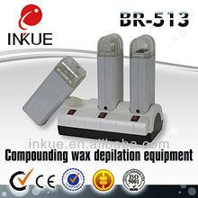 Ce br-513 venta caliente portátil calentador de cera/calentador de cera depilatoria calentador/21 años del fabricante