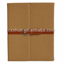 Pu Leather Case Cover with Leather Belt+buckle for Apple the New Ipad (Light brown)