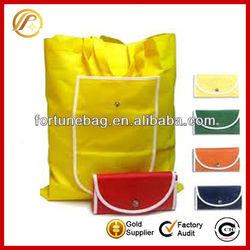 Portative cheap nylon foldable shopping bag