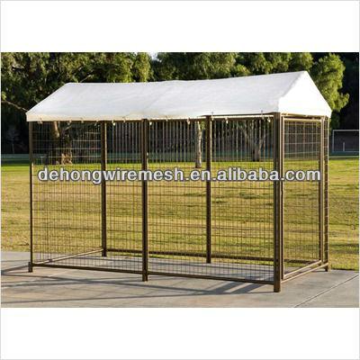 galvanized steel dog kennels/powder coated steel dog cage