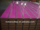melamine 18mm slotted MDF board , slatwall MDF,display melamine slatwall MDF