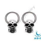 captive bead ring skull slave rings piercings body jewelry