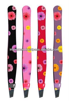 Color Painted Eyebrow Tweezers / Slant Tweezers / Straight Tweezers
