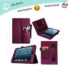 Unique FrontPocket Folio Leather Case W HandStrap Cover for iPad 4/3/2 iPad mini