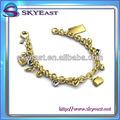 ouro pulseira de metal presa de ouro e prata decalques