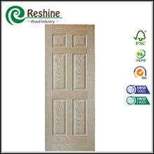 Veneer coated 6 panel glass fiberglass doors
