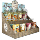 Soap cardboard counter display stand