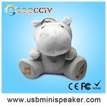 christmas animated plush speaker audio speaker stereo Music player portable FM radio speaker animal shaped Christmas