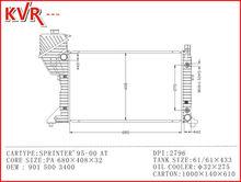 Radiation Air Tube Headset For Radiator For SPRINTER 95 00 With OEM 901 500 3400