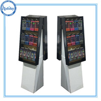 Double-faced mobile phone accessories display stand with pegs