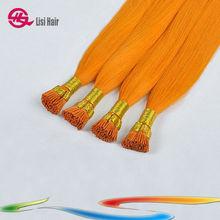 Fusion I Tip Human Stick Orange Hollywood Hair Extension