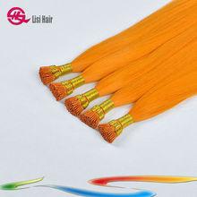 Fusion I Tip Human Stick Orange Hair Extension Singapore
