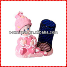 High grade cute pinky resin baby gift wholesale