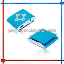 (top seller) Customermized Mini metal clip mp3 with fm radio mp3 player