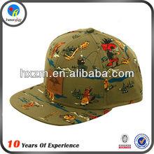 CHEAP CUSTOM SKULL PROMOTION FESTIVAL FLAT BILL FITTED HAT CAP