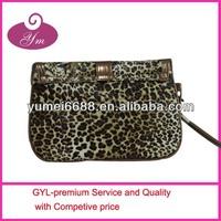 2014 animal leopard print nail polish cosmetic bag