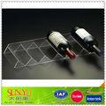 simples 6 clara de garrafas de vinho acrílico display rack de armazenamento excelente condição