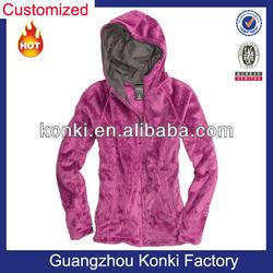 2013 fashion cheap OEM womens corduroy fleece jacket with zipper up