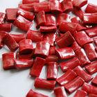 red coral shape art polished