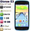"Gionee E3 with 4.7"" MTK6589 Quad Core Android 4.2 1280x720p 16GB ROM 1GB RAM 2.0MP 8.0MP Camera Mobile Phone Gionee E3"