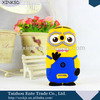 Cute 3d despicable me minions soft silicone cover case for lenovo a390