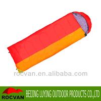 cheap with hood envelope hollow fiber sleeping bag