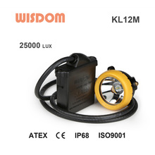 LED Mine underground cap lamps 25000Lux safety cap lamp KL12M energy saving lamp cap(WISDOM)