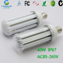 E27/40w 3200lm/220v led mais luce di via