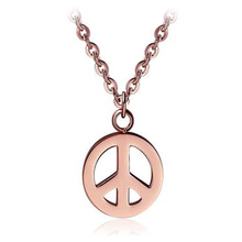 rose gold 2013 China Wholesale Fashion Jewellery Peace dove Sign Pendant