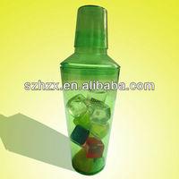 transparent plastic cocktail mix bottle