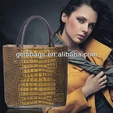 Sell! Crocodile Handbag New Year Classic TOTE HOBO Grand Genuine Leather Stone Veins Handbag