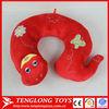 China wholesale stuffed snake U-shape red plush pillow