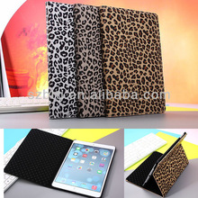 Cheetah print Leopard leather Book case for iPad mini 2 Stand Cover