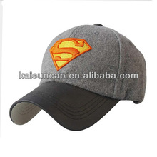 2014 hot sale perfect cricket caps with leather visor