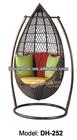 wicker rattan hanging egg swing chair