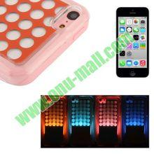 For iPhone 5C Flashing Shining Case(rose+pink)