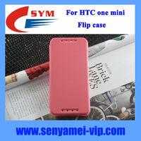 Transparent PC back case for HTC one mini M4 flip case factory China,for HTC one mini M4 case cover