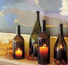 wine glass shape candle holder