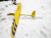 Balsa wood rc airplane model E-Tomcat rc motor glider