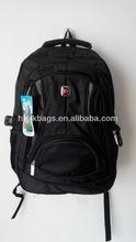 1680D+pvc laptop backpack black for man