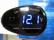 Cigarette lighter electric voltage meter for Auto car battery blue LED display