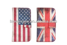 country flag leather wallet case for sansung galaxy S3 Mini i8190