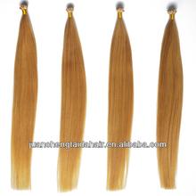 super quality remi keratin i tip human hair weaving/extension
