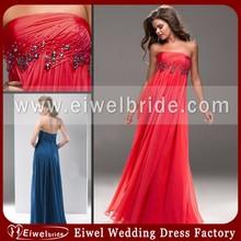 MA4783 2014 Newest Design Simple Elegant Strapless See Through Chiffon Ruffles Pregnant Women Evening Dress