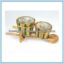 Wooden Cart Pots For Plants