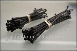 black motorcycle spokes
